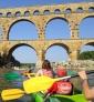 Le Pont du Gard en kayak