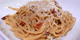Spaghetti à la carbonara via Wikimedia Commons