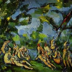 Baigneurs de Paul Cézanne via Wikimedia Commons