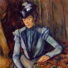 Dame en bleu de Paul Cézanne via Wikimedia Commons