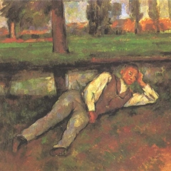 Jeune garçon se reposant de Paul Cézanne via Wikimedia Commons