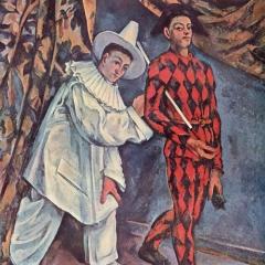Mardi gras, Pierrot et Arlequin de Paul Cézanne via Wikimedia Commons