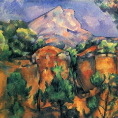 Montagne de Sainte-Victoire à partir des carrières de Bibemus de Paul Cézanne via Wikimedia Commons