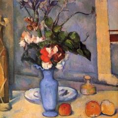 Nature morte avec vase bleu de Paul Cézanne via Wikimedia Commons