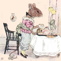 Adélaïde préparant le thé d'après George Howard Vyse