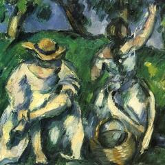 Les cueilleuses de fruit par Paul Cézanne via Wikimedia Commons