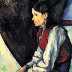 Le garçon au gilet rouge de Paul Cézanne via Wikimedia Commons