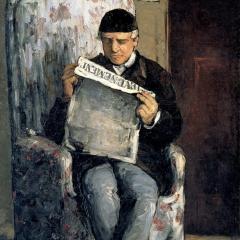 Louis Auguste Cézanne par Paul Cézanne via Wikimedia Commons