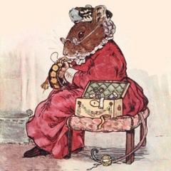 Madame Pérez brodant un bonnet de nuit d'après George Howard Vyse