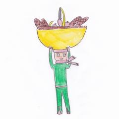 Patufet et son panier par Salomé