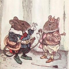Pérez et Buby en souris d'après George Howard Vyse