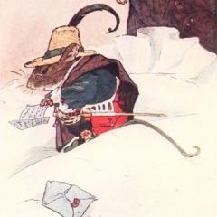La souris Pérez lisant la lettre