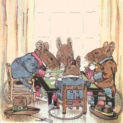 Partie de poker d'après George Howard Vyse