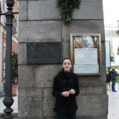 Devant le musée Thyssen de Madrid par Casper