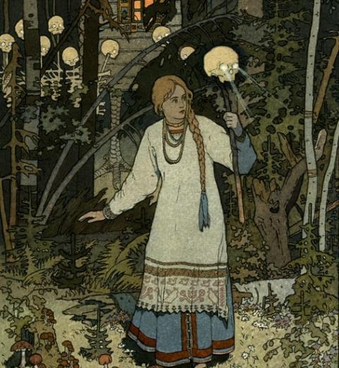 Vassilissa la belle par Ivan Bilibine via Wikimedia Commons