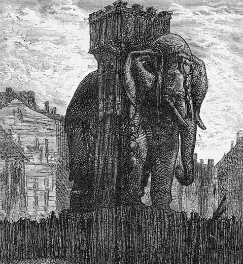 L'éléphant de la Bastille par G. Brion via Wikimedia Commons