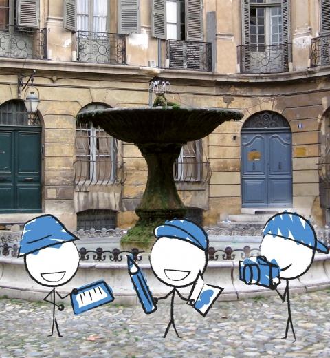 Illustration de couverture Découvrir Aix-en-Provence en famille