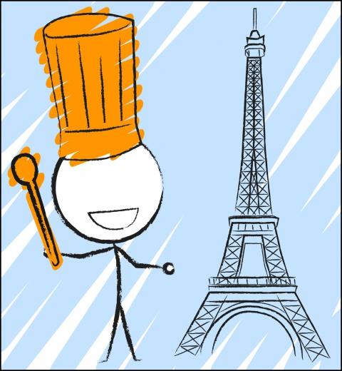 Illustration de couverture Je cuisine à Paris