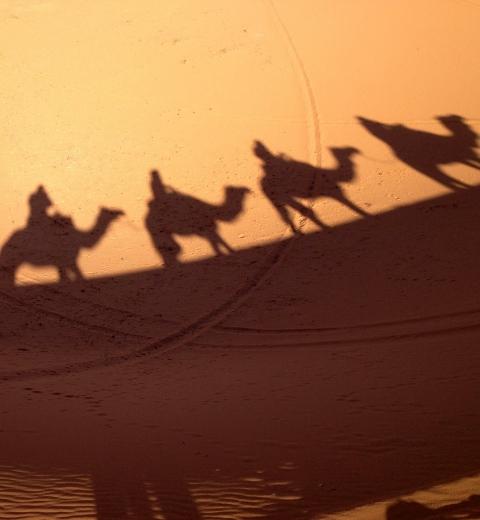 Notre caravane dans le désert de Chebbi