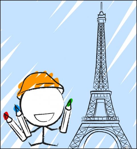 Illustration de couverture Je colorie Paris