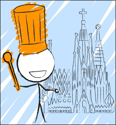 Je cuisine à Barcelone